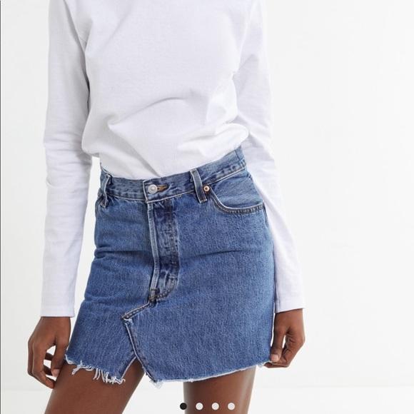 621444a8e8 Urban Outfitters Skirts | Urban Renewal Levis Denim Skirt | Poshmark